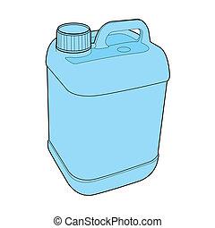 gallon, vektor, plastisk