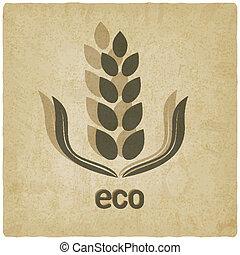 gammal, korn, organisk, bakgrund