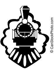 gammal, lokomotiv