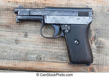 gammal, mauzer, gevär, hand