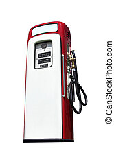 gammal, pump, bensin, isolerat