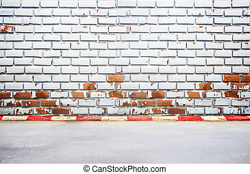 gammal, vägg, bakgrund, gångstig, tegelsten, texture., synhåll