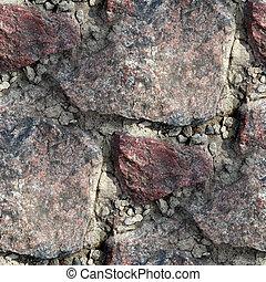 gammal, vägg, seamless, struktur, bakgrund, granit