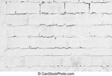 gammal, vägg, struktur, bakgrund, vita tegelsten