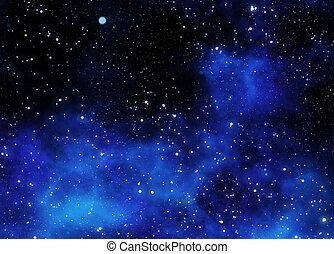 gas, nebulosa, yttre, moln, utrymme