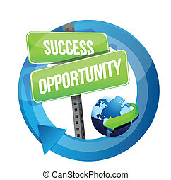 gata, tillfälle, framgång, underteckna
