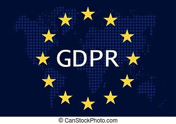 general, skydd, reglering, (gdpr), data