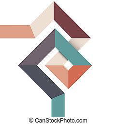 geometrisk formgivning, abstrakt, minimal