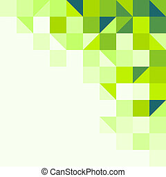 geometrisk, grön fond