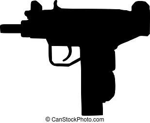 gevär, uzi