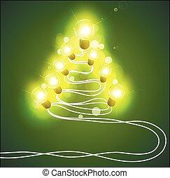 girlander, träd, jul
