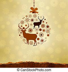 gjord, snowflakes., eps, agremanger, 8, jul