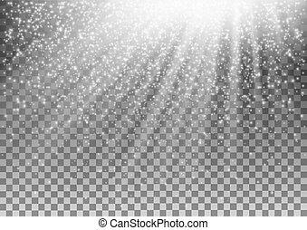glödande, vektor, bakgrund., verkan, transparent, lätt
