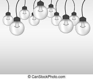 glödlampor, lätt