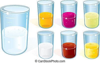 glas, dricka