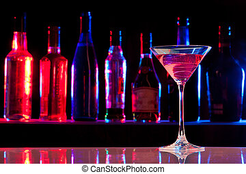 glas, dricka, hinder, cocktail