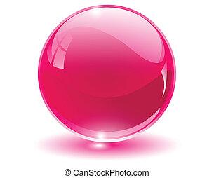 glob, 3, kristall, glas