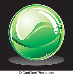 glob, grön, glatt