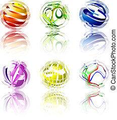 glober, abstrakt