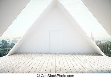 golv, trä, inre, loft, lätt