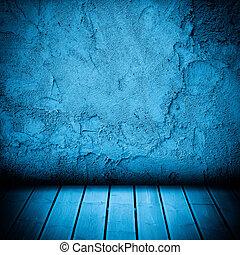 golv, vägg, konkret, ved, bakgrund, strukturerad