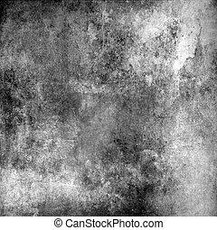 grå, abstrakt, grunge, bakgrund, struktur