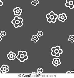 grå, utrusta mönstrar, skylt., seamless, bakgrund., vektor, ikon