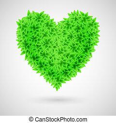 grön, heart.