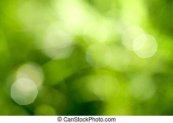 gröna abstrakta, backgound, naturlig