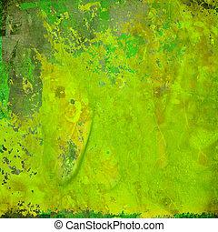 gröna abstrakta, grunge, färgrik, bakgrund