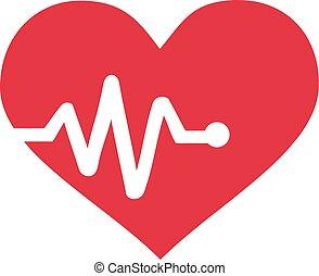 graf, hjärtslag, hjärta
