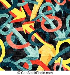 graffiti, bakgrund, seamless