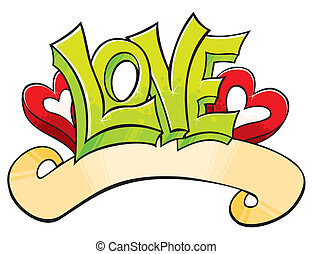 graffiti, kärlek
