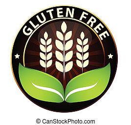 gratis, mat, ikon, gluten