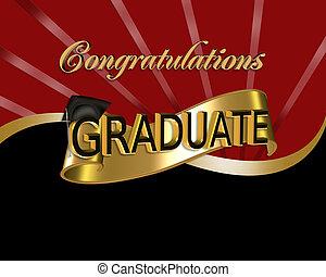 gratulationer, grafisk, akademiker