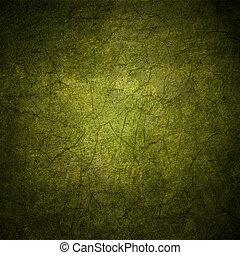 grunge, färgrik, abstrakt, struktur, mörk, papper, grön fond, eller