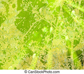 grunge, lysande, abstrakt, strukturerad, blommig, grön