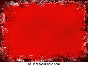 grunge, röd