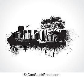 grunge, stad