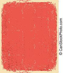 grunge, struktur, text, gammal, vektor, paper., röd