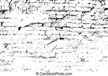 grunge, tegelsten, bakgrund, gammal, wall., vektor, struktur