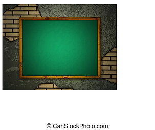 grunge, vägg, blackboard
