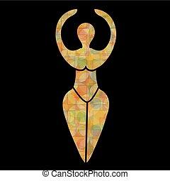 gudinna, symbol, wiccan