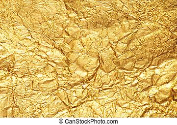 guld, skrynkligt, florett, bakgrund, strukturerad