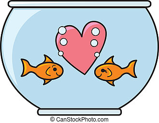guldfisk, kärlek