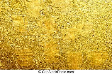 gyllene, guld vägg, bakgrund., lyxvara, texture.