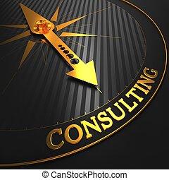 gyllene, konsultera, compass.