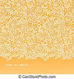 gyllene, spets, mönster, seamless, ro, bakgrund, horisontal