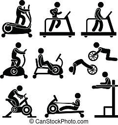 gymnastiksal, gymnastiksal, övning, fitness