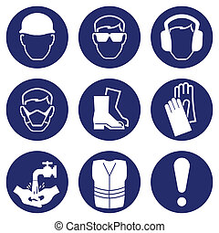 hälsa, säkerhet, ikonen